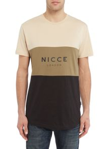 Nicce Khaki Panel T-Shirt