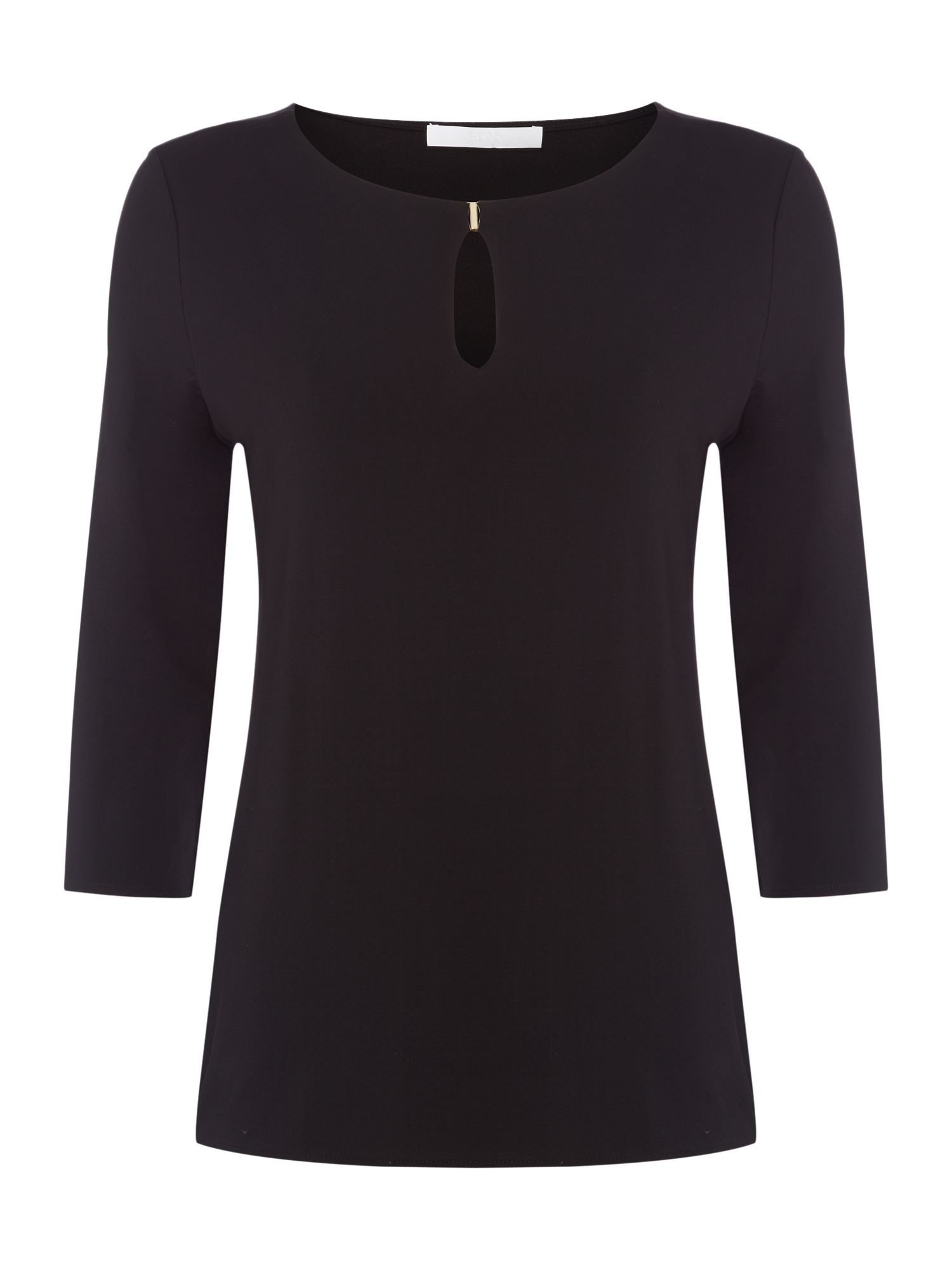 Hugo Boss Epina hardware detail top, Black