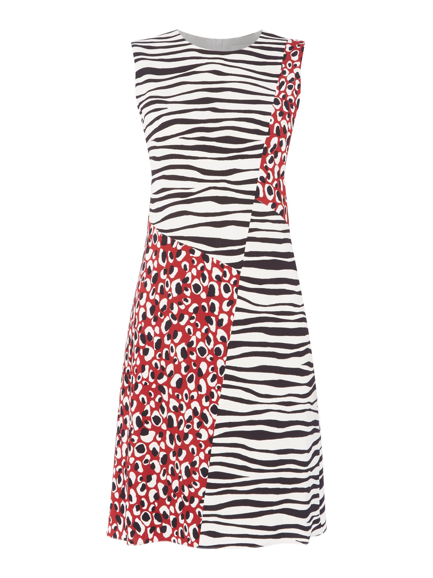 Hugo Boss Diseba leopard and zebra print dress, Multi-Coloured