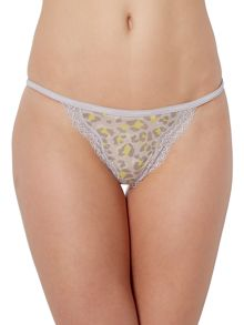 Calvin Klein Sheer marq with lace string thong