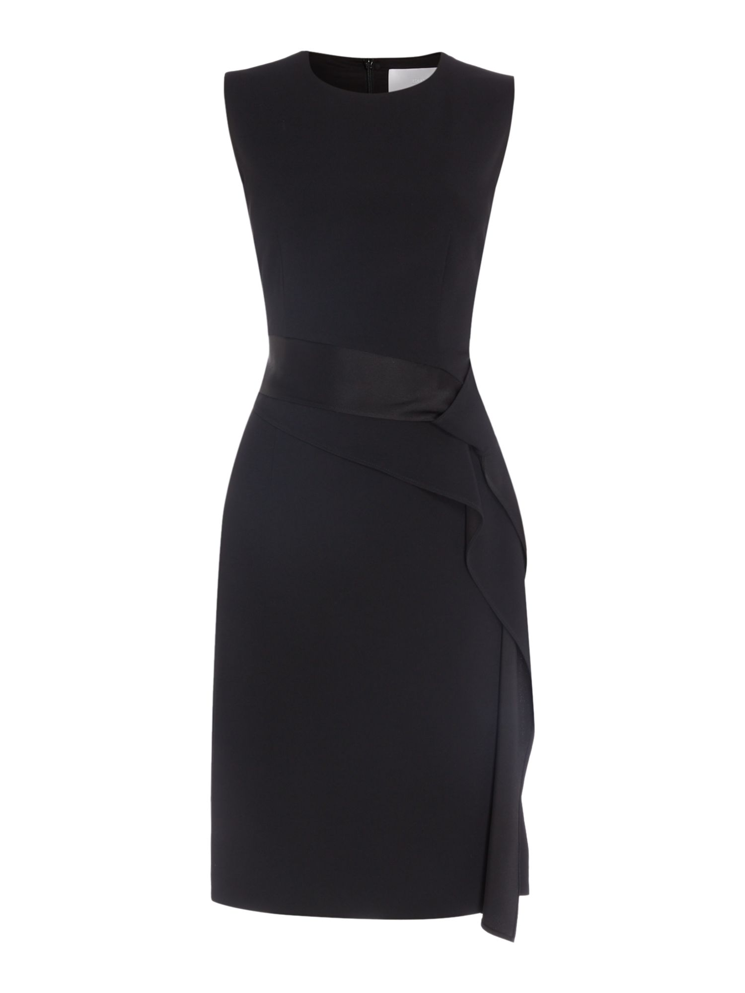 Hugo Boss Disalana sach ruffel dress, Black