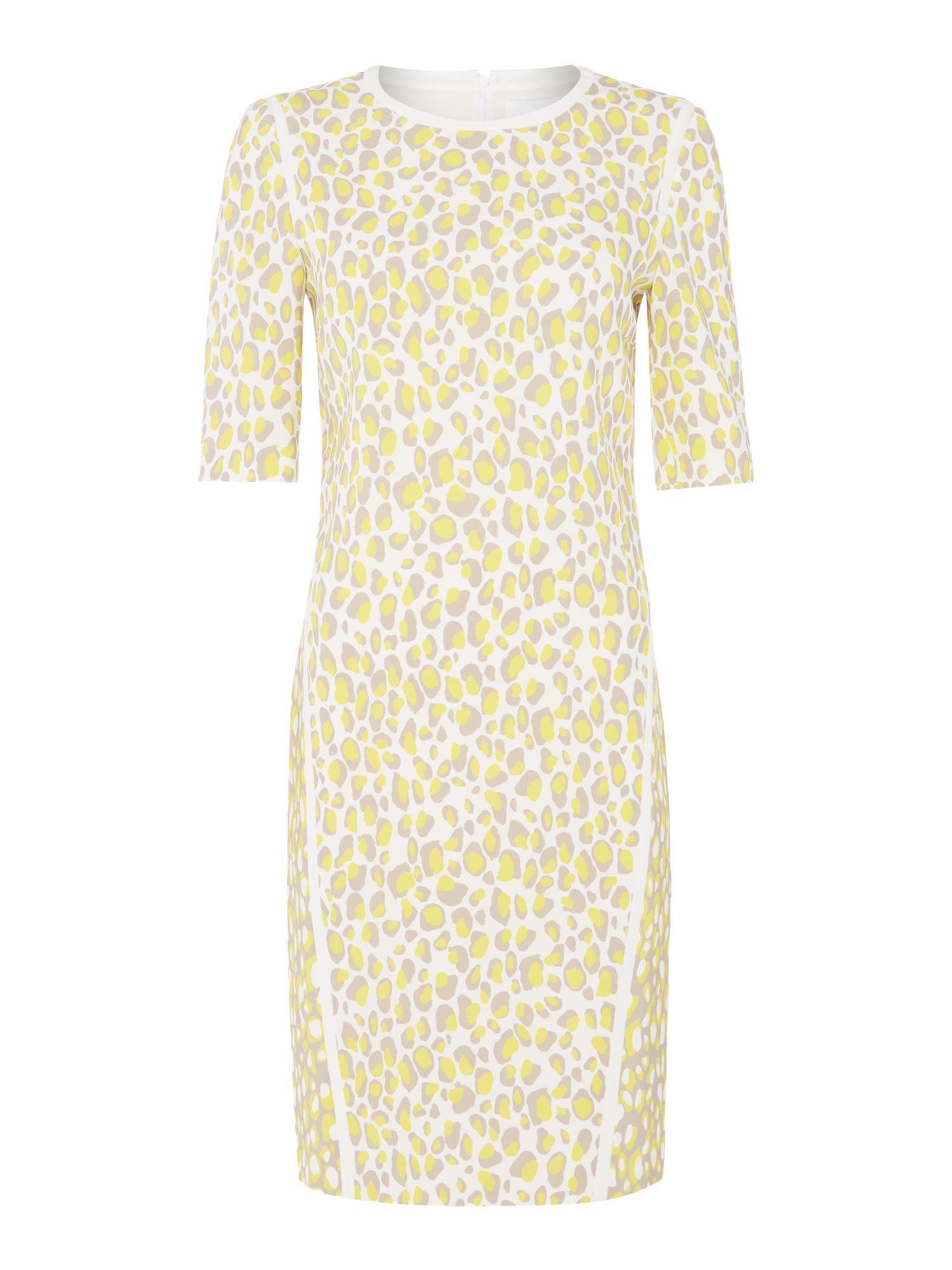 Hugo Boss Desima leopard dress, Multi-Coloured