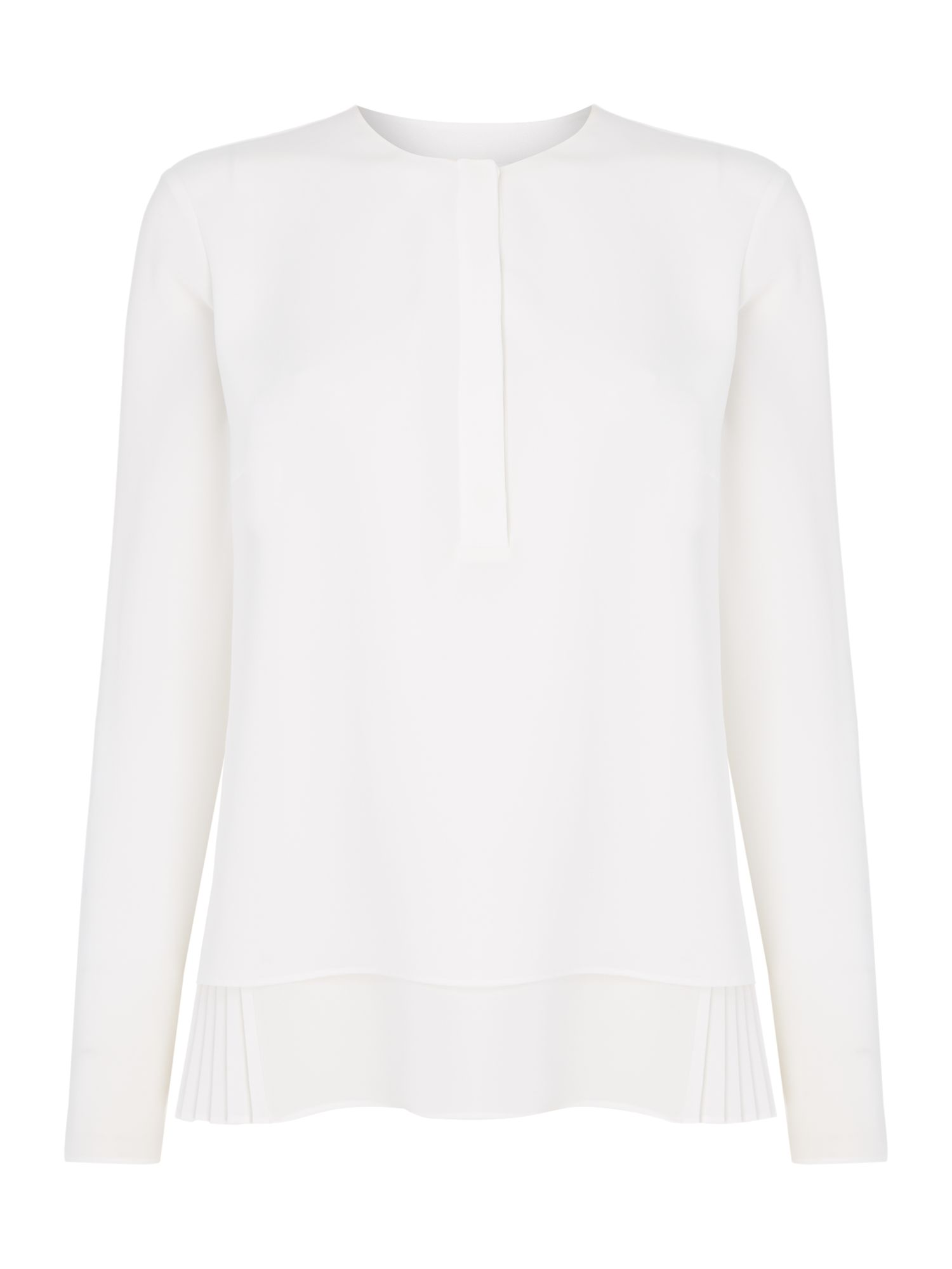 Hugo Boss Bialea pleated blouse, White