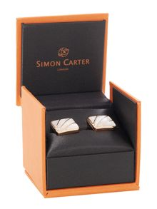 Simon Carter Deco Fan Rose Gold Cufflink