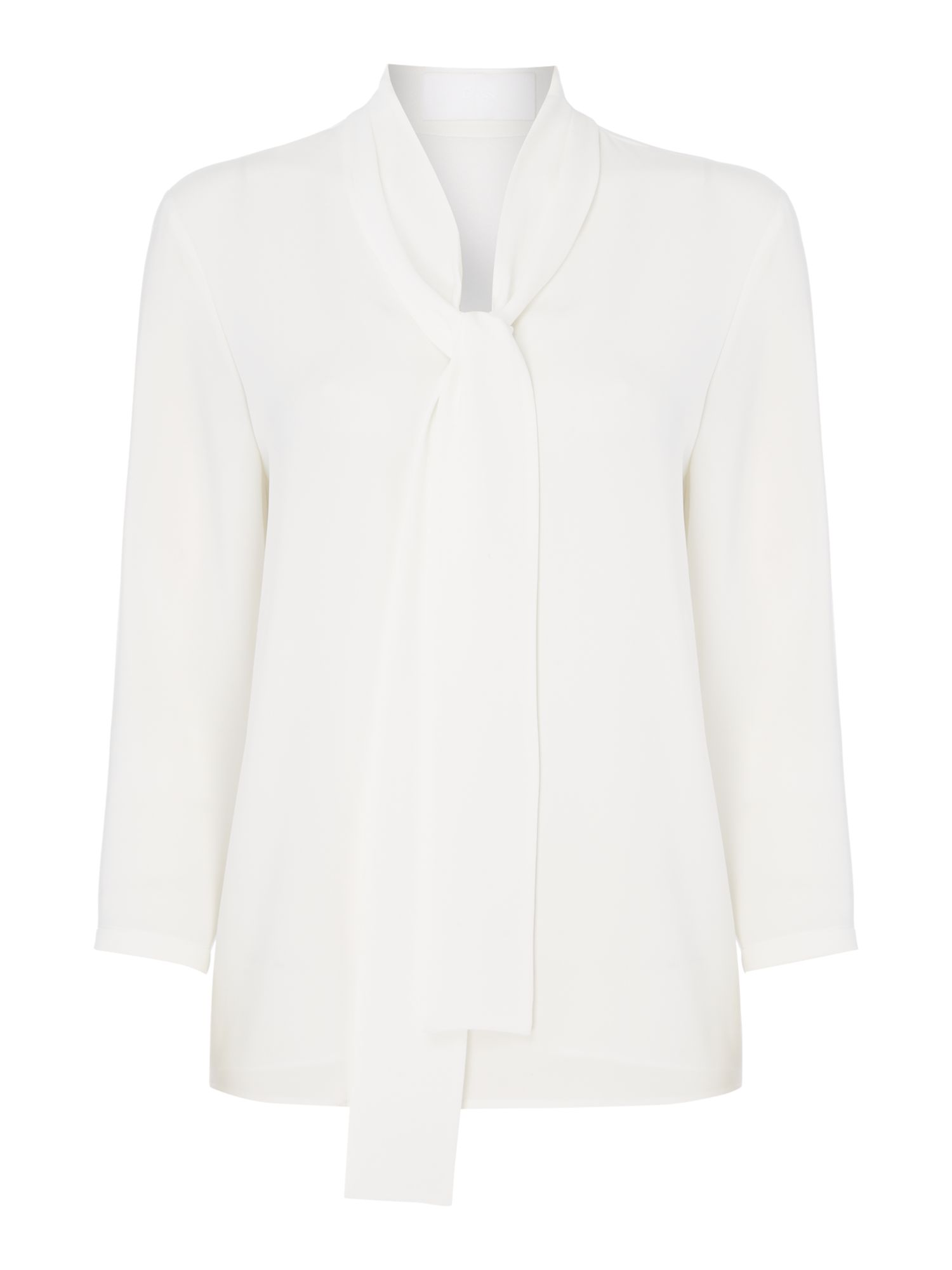 Hugo Boss Lasena tie neck blouse, White