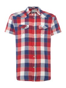 Wrangler Short Sleeve Western Check Shirt