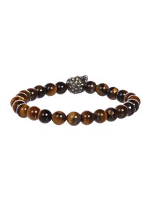 Simon Carter Tigerseye Beaded Skull Bracelet