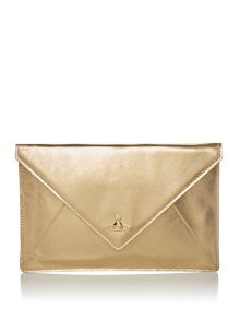 Vivienne Westwood Soft leather envelope clutch