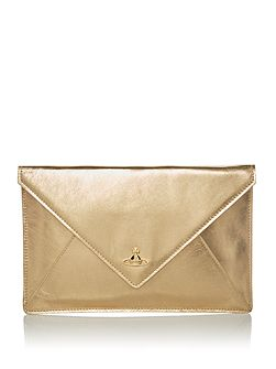 Soft leather envelope clutch