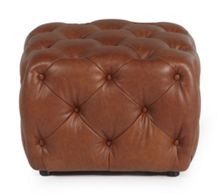 Linea Buffalo Button Footstool