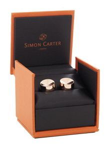 Simon Carter Dimple Cone Rose Gold Cufflink