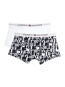 Tommy Hilfiger Boys Cube Print 2 Pack Trunks