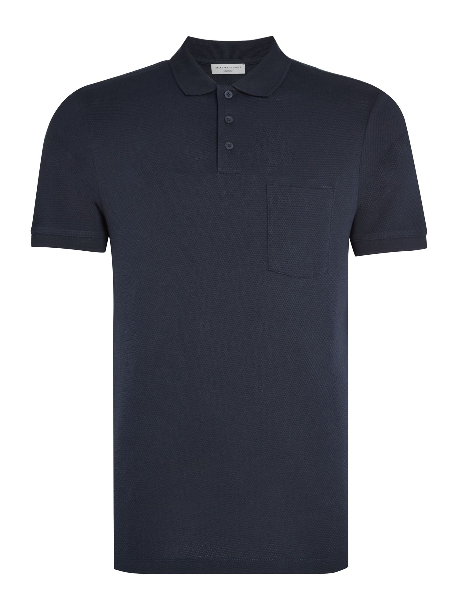 Men's Selected Homme Rick Pique Polo, Blue