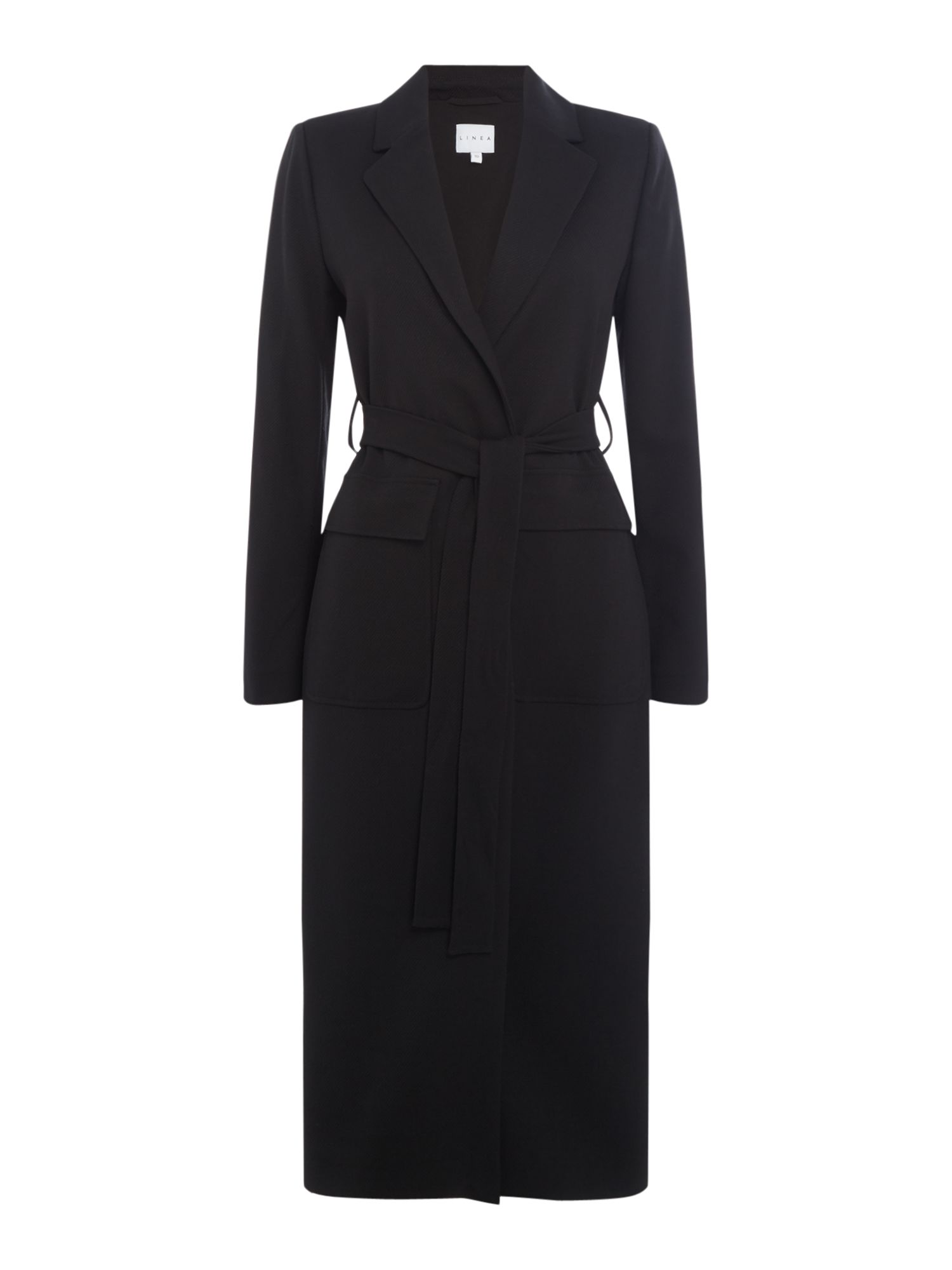 Linea Lucy front pocket coat, Black