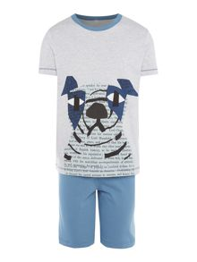 Tommy Hilfiger Boys Dog Graphic Short & T-Shirt