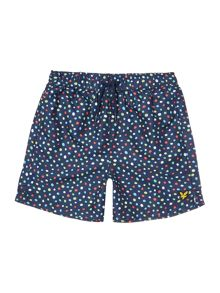 Lyle and Scott Boys Spot Print Swim Trunk