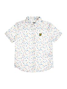 Lyle and Scott Boys Spot Print Short Sleeve Shirt