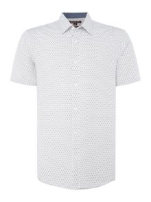 Michael Kors Geo tape print short sleeve shirt