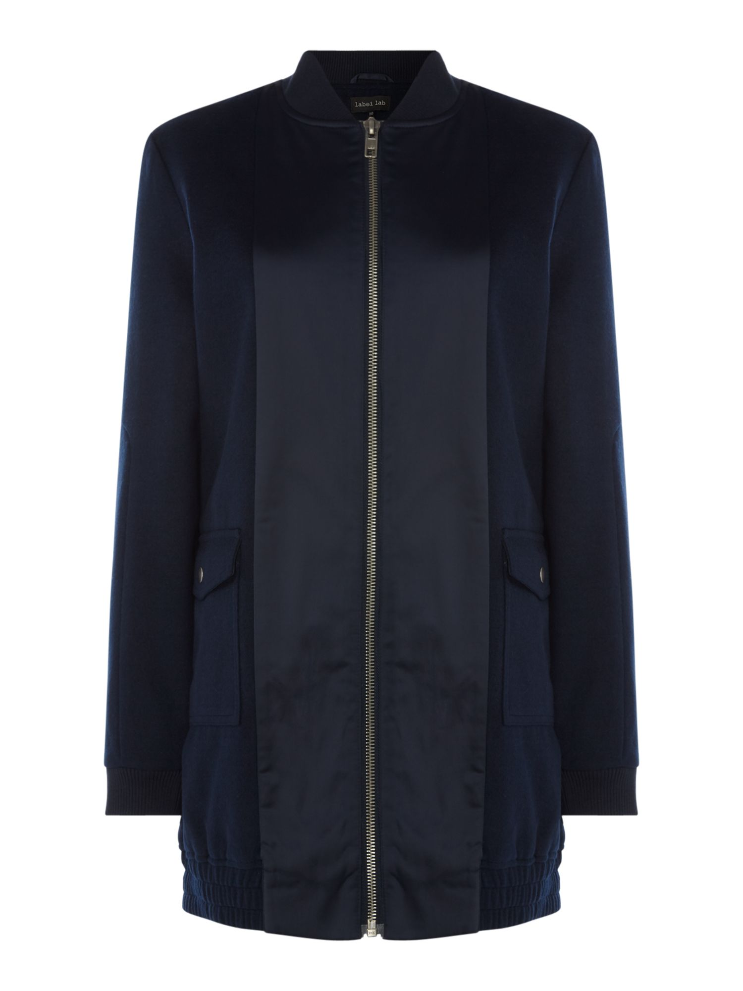 Label Lab Longline Bomber, Blue