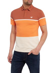 Armani Jeans Block stripe polo shirt