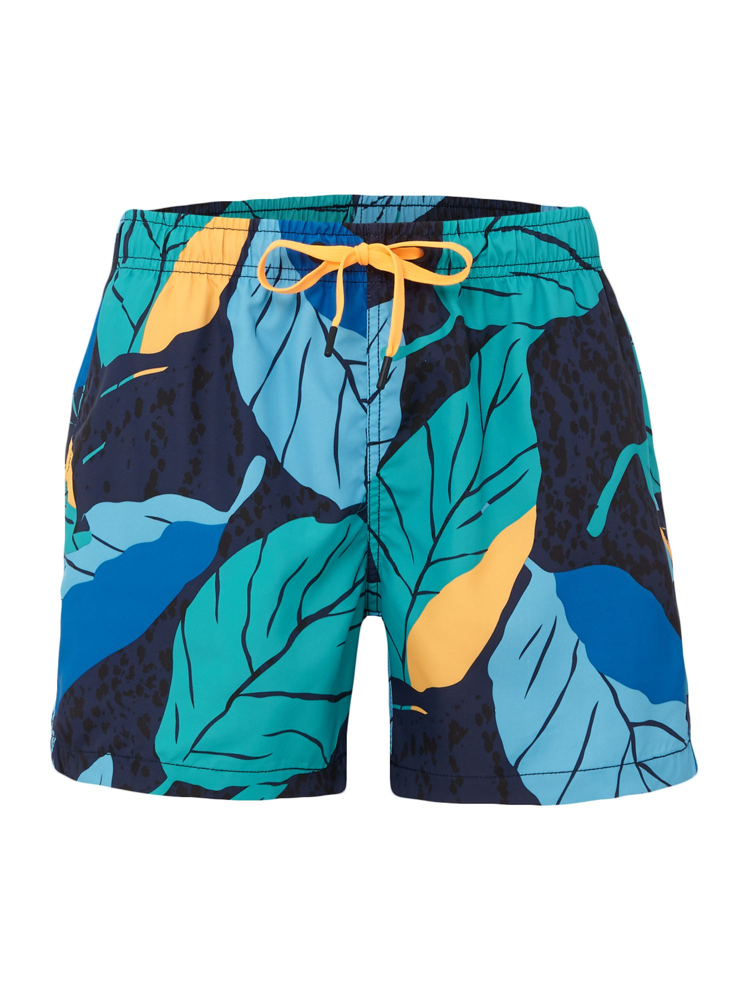 Men's Bjorn Borg Leaf Print Swim shorts, Blue
