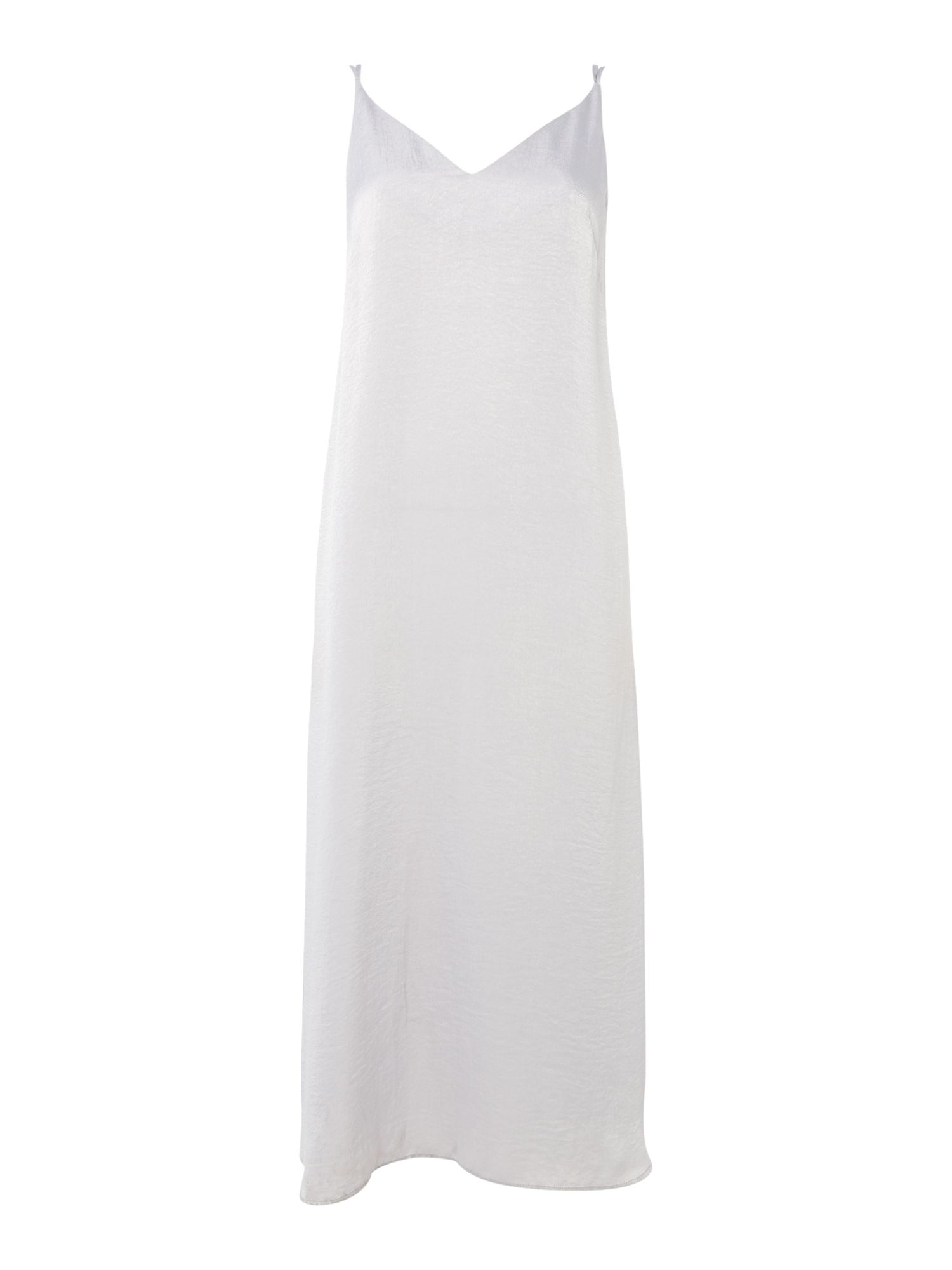 Label Lab Double-Strap Mottled Satin Dress, Silver
