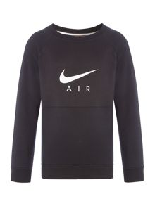 Nike Boys Metallic Air Crew Sweater
