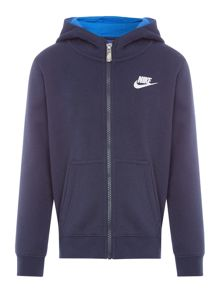 Nike Boys Small Logo Zip Up Hoodie