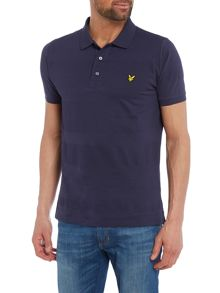 Lyle and Scott Textured stripe polo top