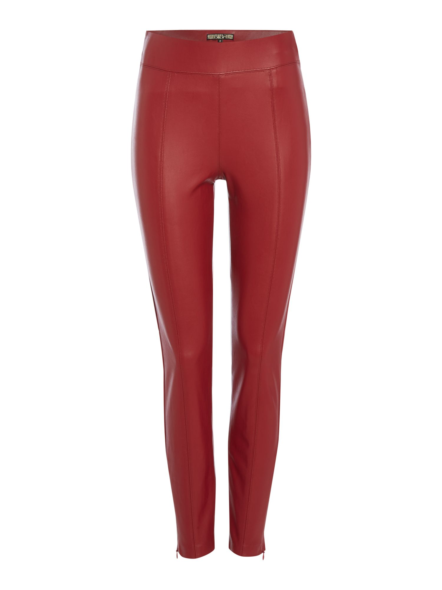 Biba Pu stretch legging, Red