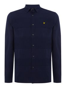 Lyle and Scott Long sleeve textured stripe shirt