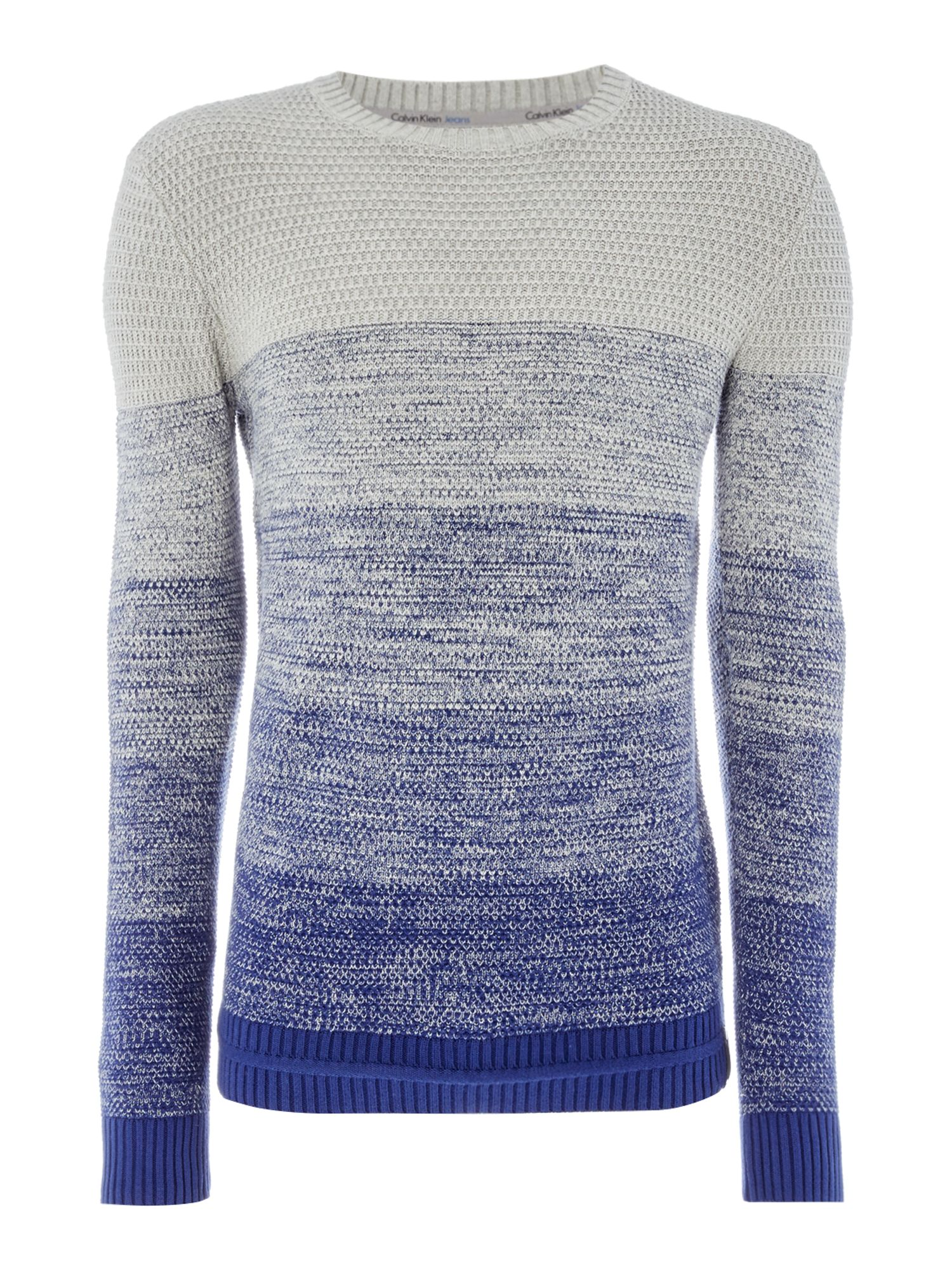 Men's Calvin Klein Soreol Colourblock Sweater, Blue