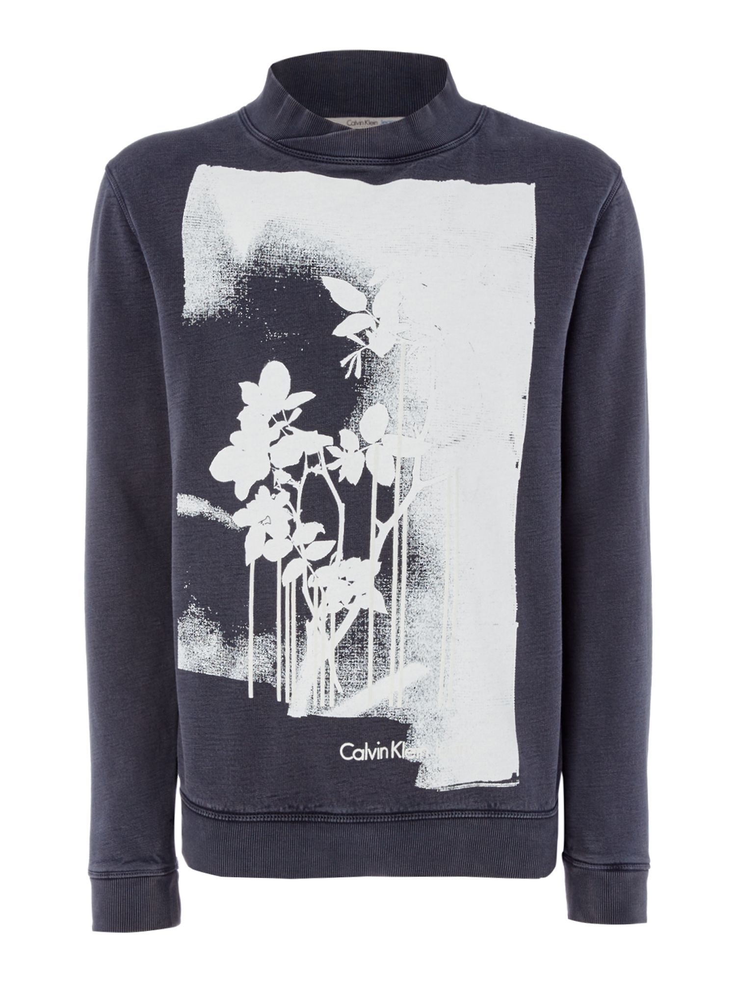 Men's Calvin Klein HIDDE Long Sleeve Sweatshirt, Black