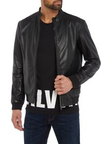 Calvin Klein Mace Leather Moto Jacket