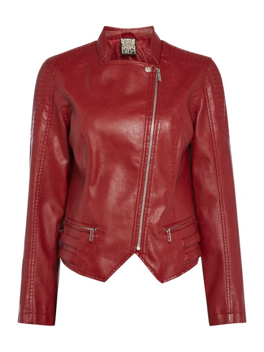 Biba Faux Leather Biker Jacket