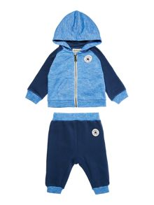Converse Baby Hoodie and Jogger Zip Up Set