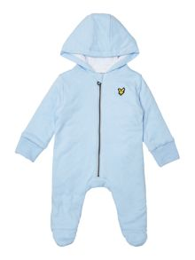 Lyle and Scott Baby Zip Up Hooded Padded Sleepsuit