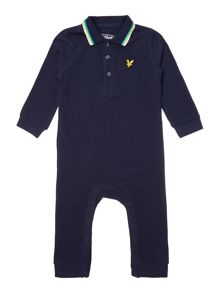 Lyle and Scott Baby Long Sleeve Polo All In One