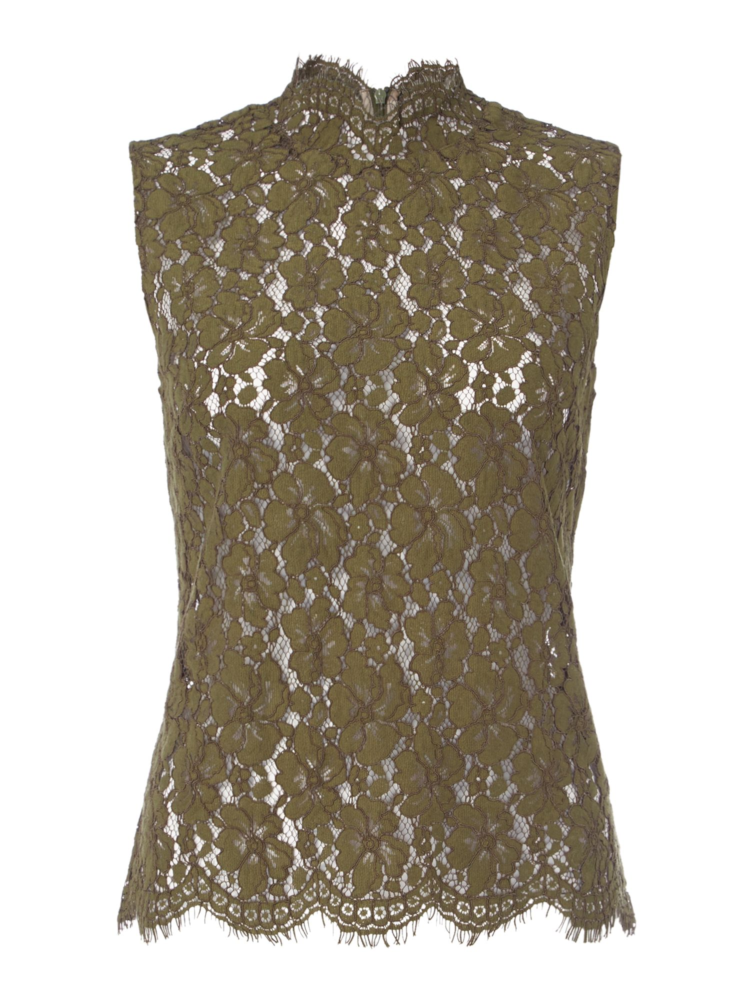 Ivy & Oak Short sleeved lace top, Green