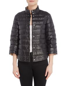 Armani Jeans Reversible puffer jacket in white spot