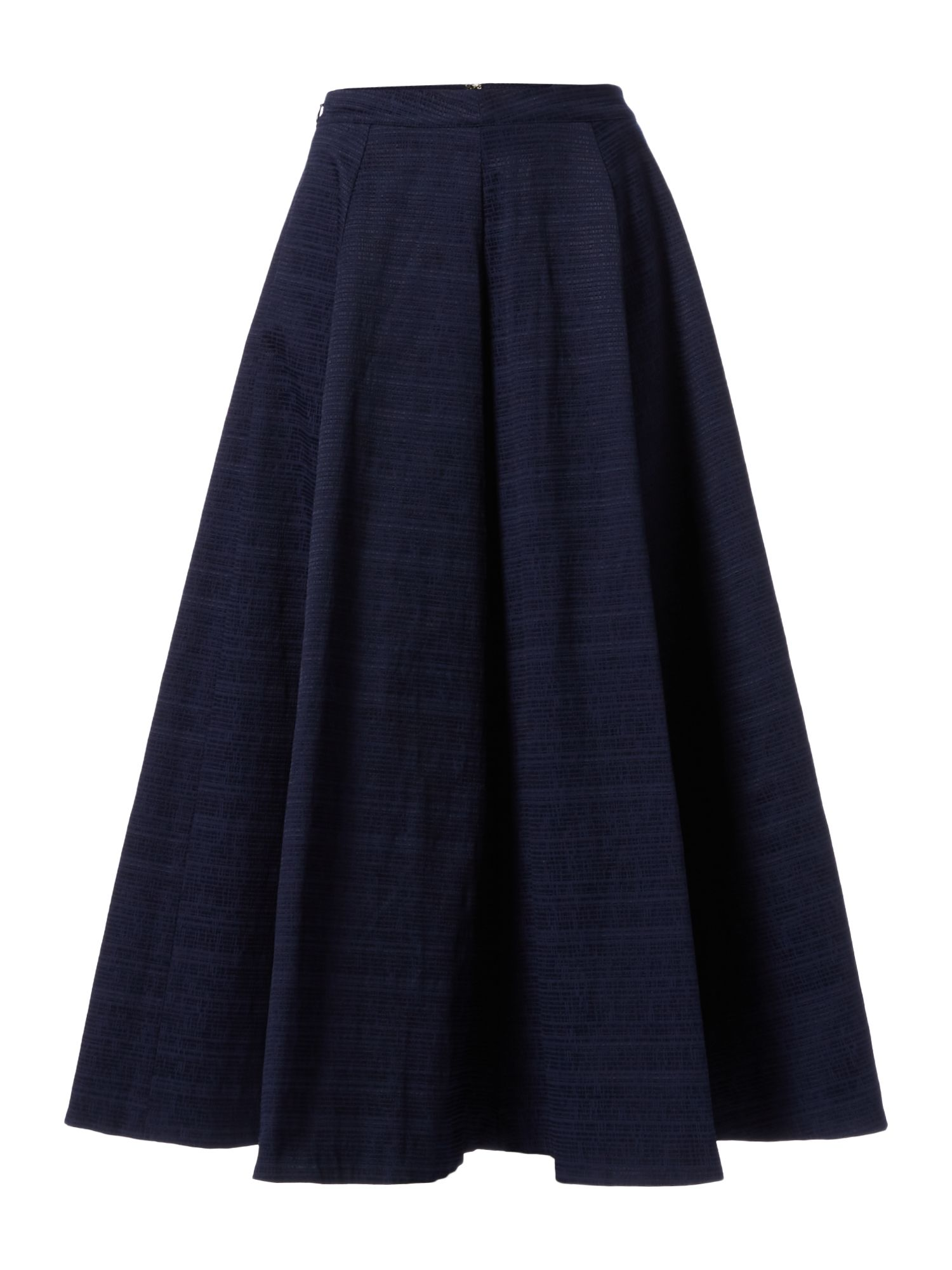 Ivy & Oak Full textured midi skirt, Blue