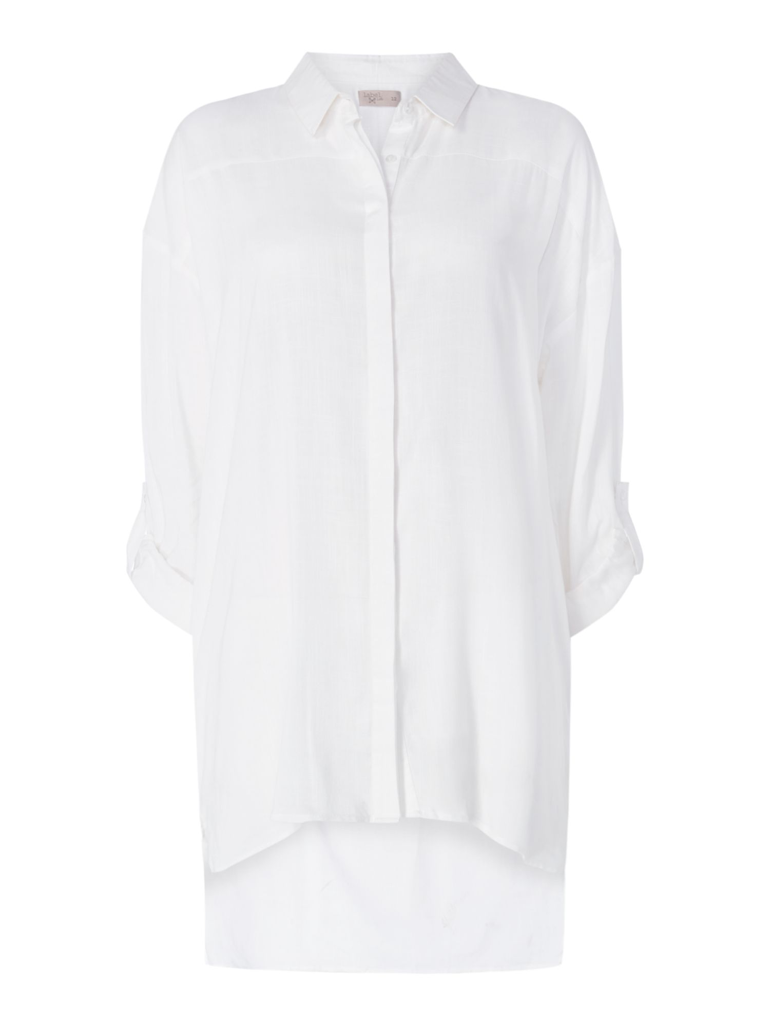 Label Lab Longlined White Shirt, White
