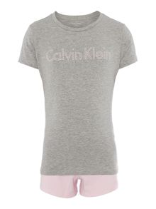 Calvin Klein Girls 2 Pack Cotton Knit PJ Set