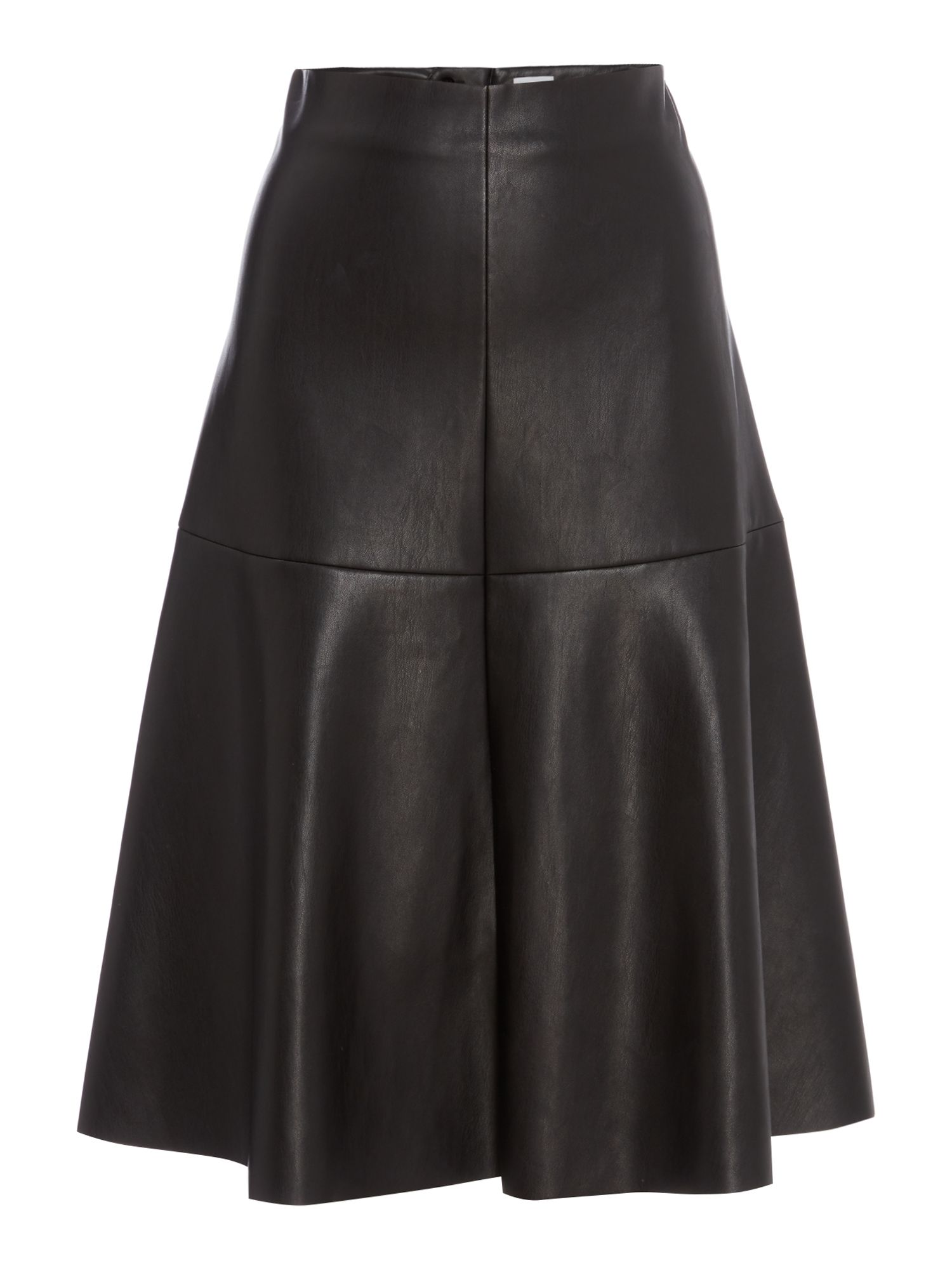 Linea Henny pu full skirt, Black