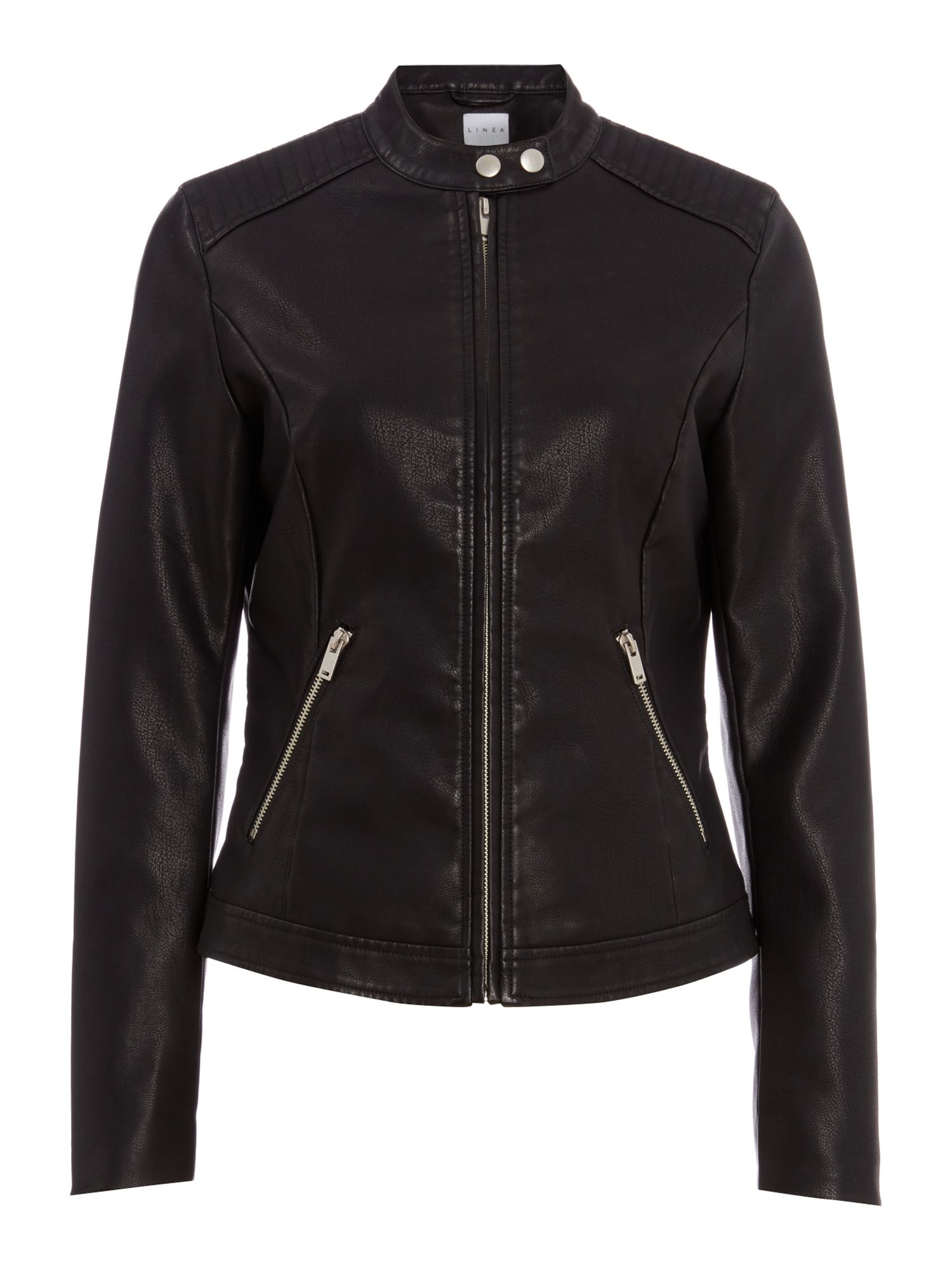 Linea Buffy pu biker jacket, Black