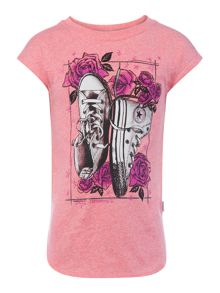 Converse Girls Chuck Roses Short Sleeve T-Shirt