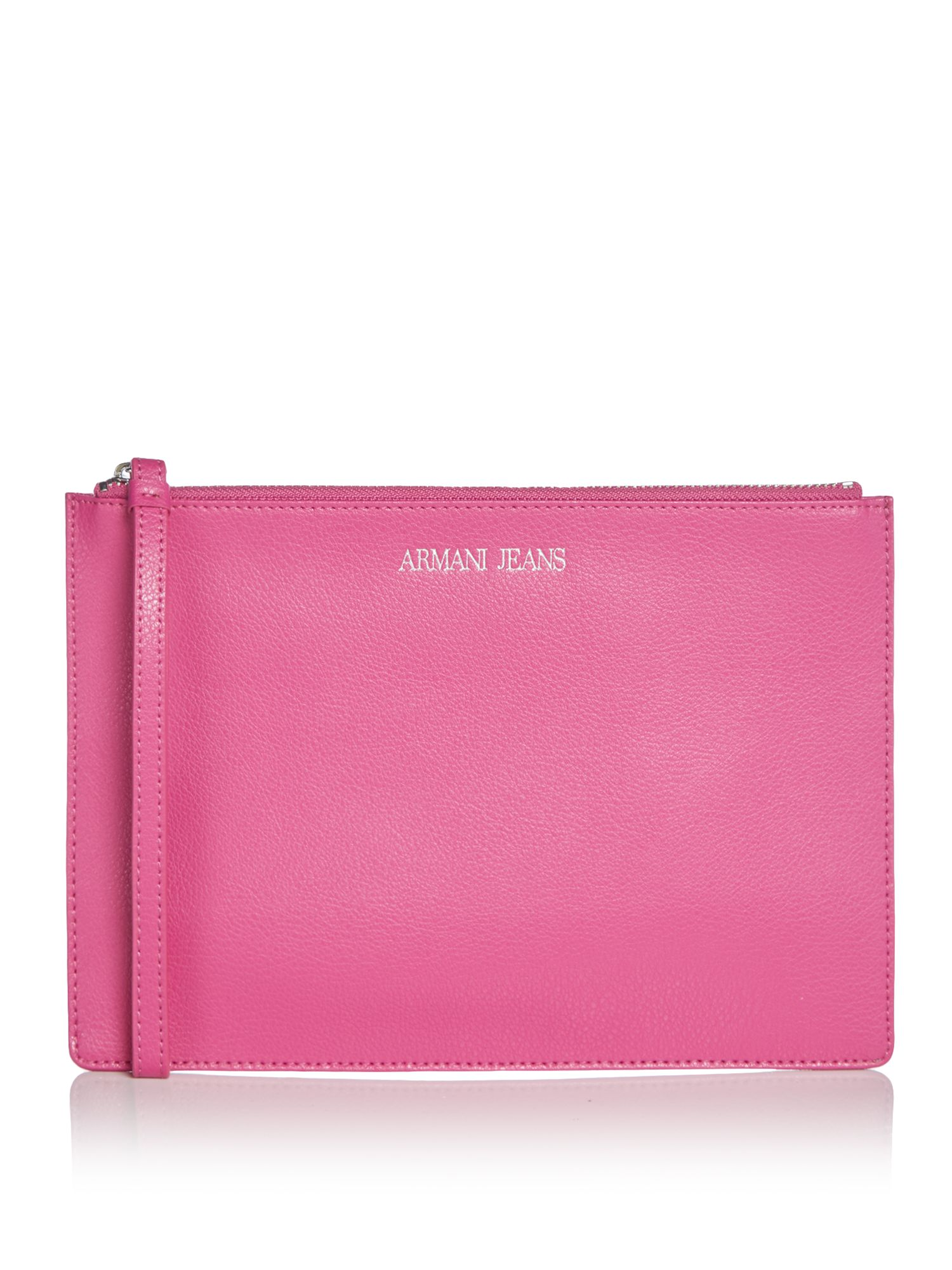 Armani Jeans Eco leather clutch bag, Pink