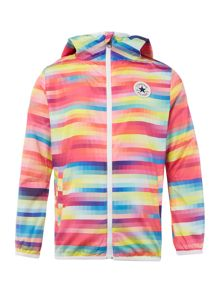 Converse Girls Zip Up Hooded Packaway Jacket