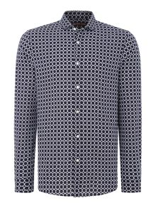 Michael Kors Slim fit all over circle print shirt