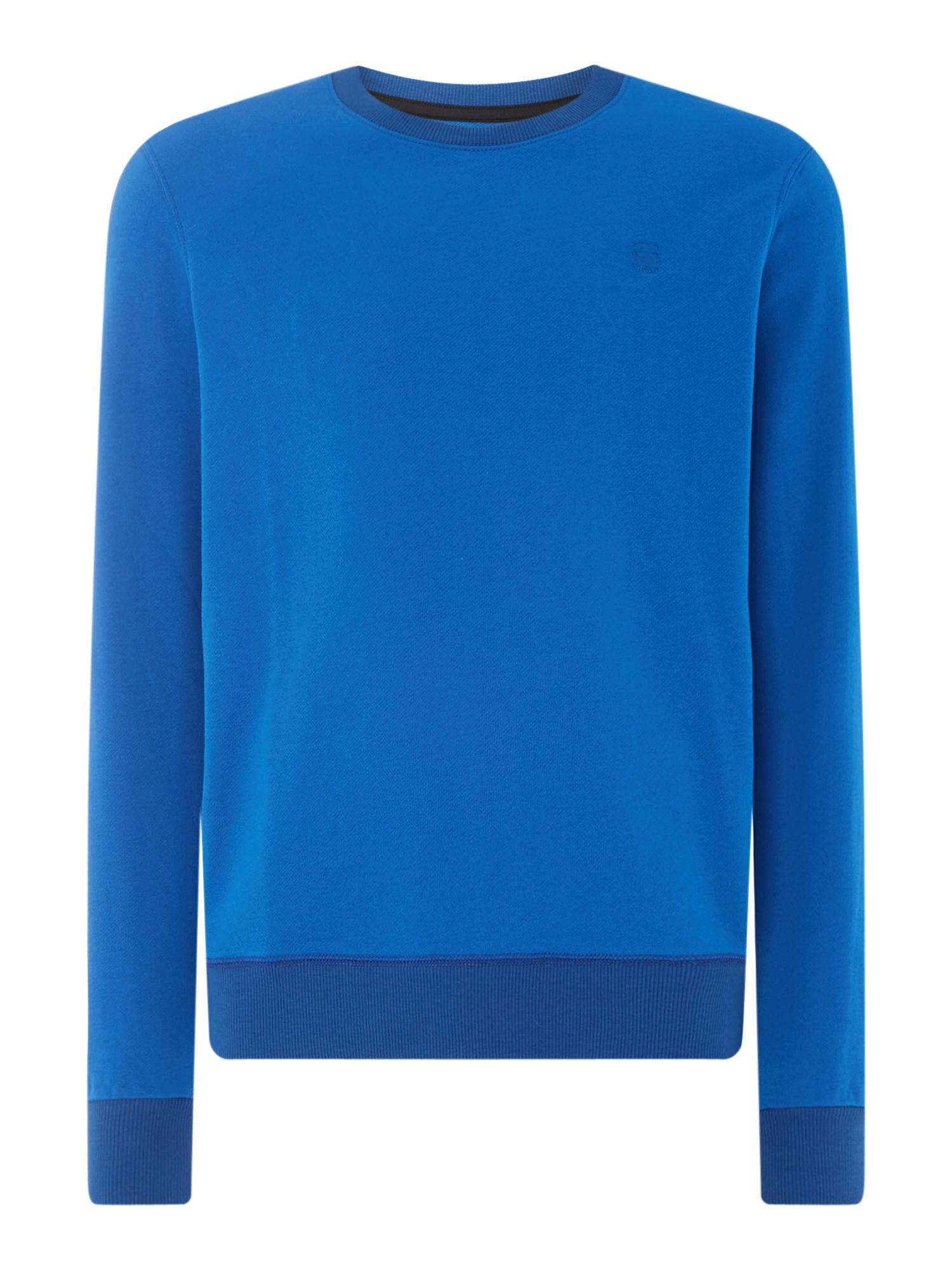 Men's G-Star Sherland long sleeve sweat, Light Blue